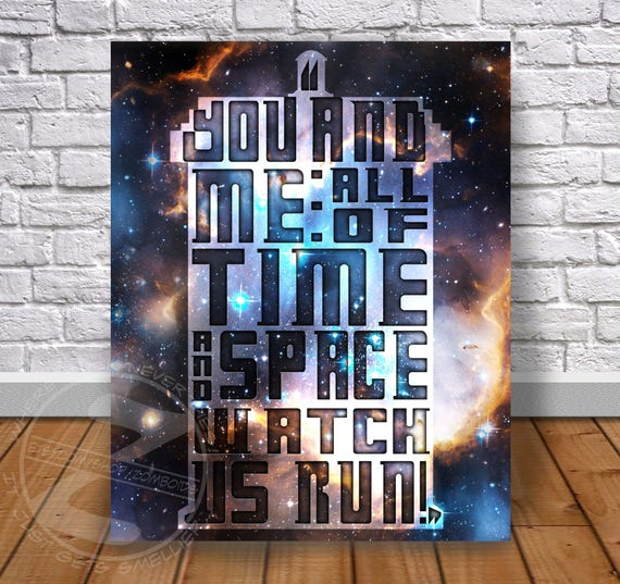 Doctor Who Quote Custom print poster - Choose Size, and Frame