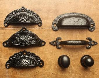 antique drawer knobs etsy. Black Bedroom Furniture Sets. Home Design Ideas