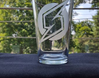 Metroid Prime Etched Pint Glass