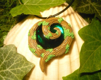 Kokiri Emerald - handcrafted Pendant with wonderfull Emerald 6,45ct!