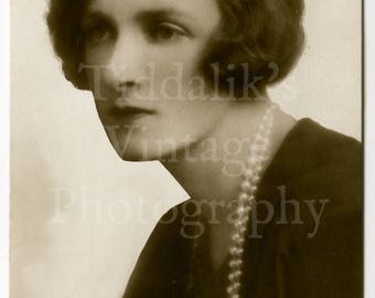Gladys Cooper Edwardian Actress RPPC Postcard Movie Stage Theatre - Written on Back but Unposted