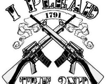 Gun Rights T Shirt, I Plead the 2nd (Sweatshirt, Fabric Block, Tote Bag, Apron, Pillowcase On Request) #739u