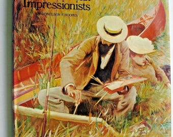 AMERICAN IMPRESSIONISTS John Singer-Sargent/Whistler/Cassatt 64 Color Plates ART/Artists Coffee Table Book Painting Donelson Hoopes hcdj