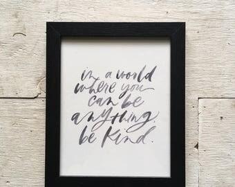 Kindness Print - Watercolor - 8x10
