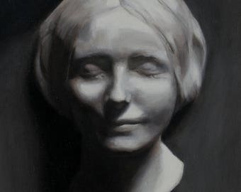 Death mask - classical academic oil painting