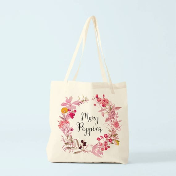 Tote bag, Mary Poppins, canvas bag, novelty gift.