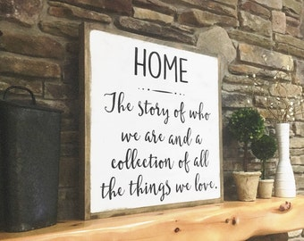 Home Wood Sign, Large Wood Sign, Farmhouse Decor, Distressed Wood Sign, Quote Wood Sign, Fixer Upper Style, Wood Sign with Sayings