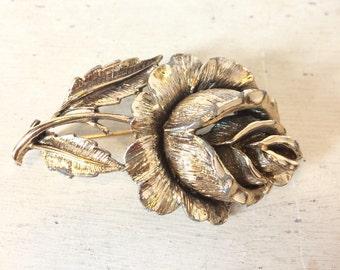 1950's Large Rose brooch