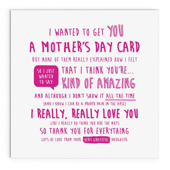 I Wanted To Get You A Mother 39 S Day Card Daughter Cute