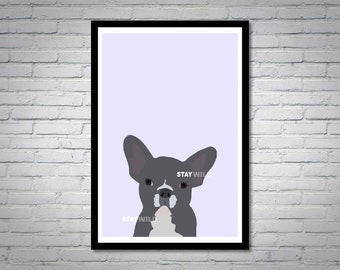 French Bulldog Pet Wall Art Print
