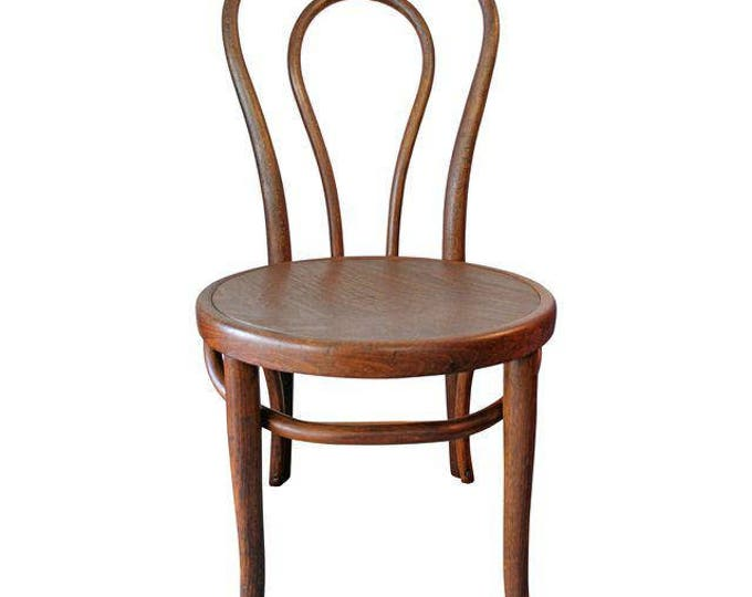 Antique Thonet Bentwood Pressed Seat Parlor Side Chair Circa 1906