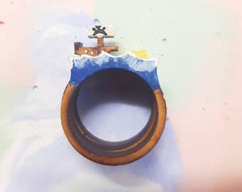 Pirates on the seven seas ring trio- coloured