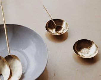 Salt Spoon    Brass