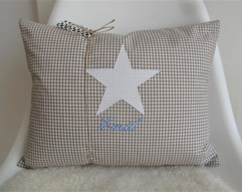 Pillow/cushion with Stripes/Star, personalized