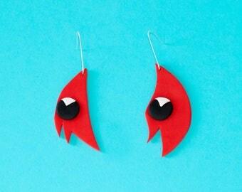 Sturts Desert Pea Earrings – Sterling Silver – Australiana