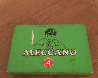 Vintage Meccano 4 Tin