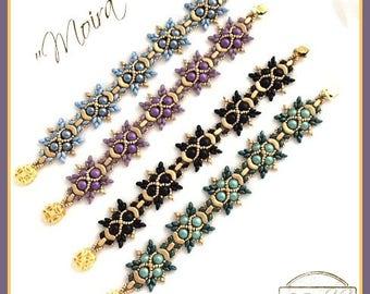 """Beading Kit: """"Moira"""" Bracelet in English. Beads only !  D.I.Y"""
