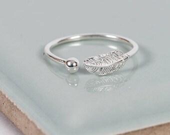 Sterling Silver Boho Midi Ring