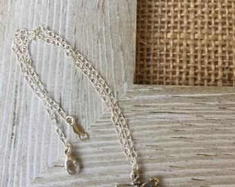 Dragonfly Anklet Dragonfly Jewelry Sandal Jewelry Dragonfly Ankle Bracelet Sterling Silver Anklet Silver Anklet Made in USA Cute Anklet