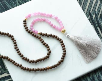 Long Beaded Tassel Necklace - Tassel Necklace - Beaded Necklace - Boho Beaded Necklace - Beaded Ibiza Necklace