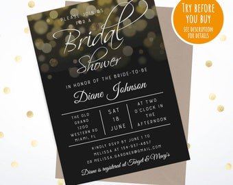 Bridal Shower Invitation Templates, Bridal Shower Invitation Download, Printable Bridal Shower Invitations Templates