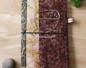 COFFEE TIME - Fabric Traveler's Notebook Cover