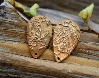 Butterfly & Roses -Handmade Bronze Components