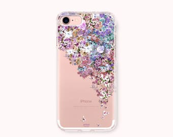 Floral iPhone 7 Case, iPhone 7 Plus Case, iPhone 6/6S Case, iPhone 6/6S Plus Case, iPhone 5/5S/SE Case, Galaxy S8/S8Plus Case-Floral Fantasy