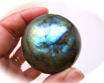 Flashing Labradorite Crystal Sphere Ball 50mm 185g