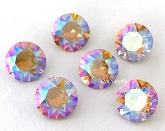 1088 ss39 Light COLORADO TOPAZ SHIMMER 12pcs Swarovski Crystal Chaton Pointed Back Round Stone