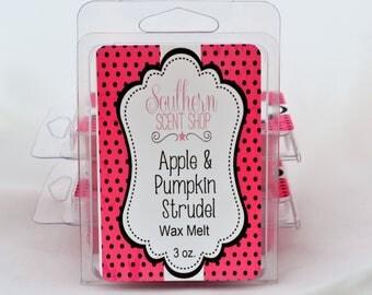 Apple & Pumpkin Strudel - Wax Melts - Clamshell Wax Melts - Fall Scent - Scented Wax Tarts - Scented Wax Melts - Strong Wax Melts