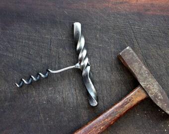 Funky Twisty Wine Corkscrew - Blacksmith Hand Forged