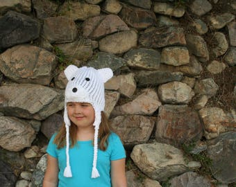 Polar Bear Ear-Flap Hat