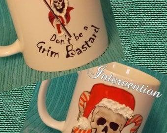 Happy Xmas don't be a grim b*****d 3D mug - funny mug - Different designs available *WARNING: BAD LANGUAGE*