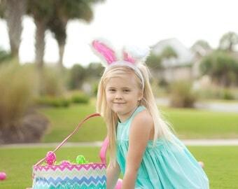 Personalized Easter Basket, Chevron Easter Basket, Monogrammed Easter Basket, Girls Easter Basket, Easter Tote, Easter Bucket, Egg Hunt Bag