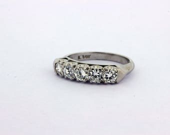 1ct TW Diamond Band 14K White Gold