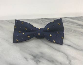 Navy Blue Little Dogs Bowtie for Wedding Dog Outfit Pet Wedding Fancy Bow Tie  Dog Collar