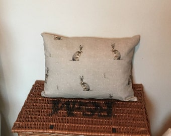 Complete cushion in Fryetts Hartley Hare fabric