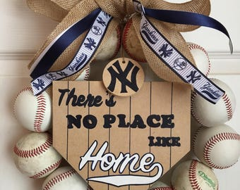 New York Yankees Baseball Wreath