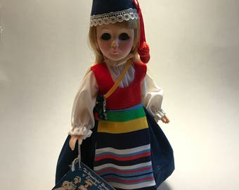 EFFANBEE DOLL, Vintage doll, International Doll, Danish Doll, Denmark doll, Effanbee international dolls, collectible doll, gift for her