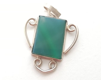 Beautiful fer forge and sterling silver pendant