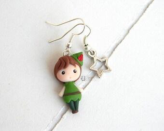 Peter Pan Inspired, Fimo, earrings, earrings
