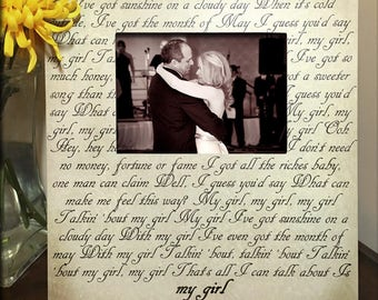 Unique Wedding Gift Song Lyric Picture Frame Gifts For Her Personalized
