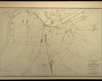 Louisville Vicinity Map of Louisville Kentucky Area Suburb
