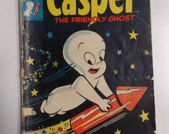 Harvey Comics Casper The Friendly Ghost # 34 July 1955 Vintage Cartoon Comic Book VG-