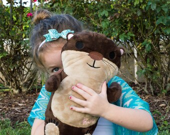 Large Otter Plush, Otter Toys for Babies, Sea Otter Stuffed Animal, Personalized Stuffed Animal, Kids Room Decor Ideas, Nautical Nursery