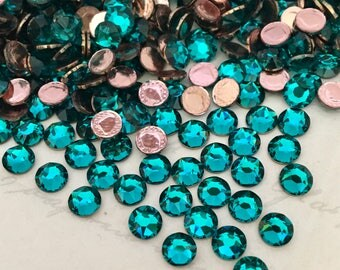 SWAROVSKI - Hotfix - Article 2078 - Blue Zircon - Teal, green, Crystals, Rhinestones, Diamantes, Flatbacks, gems, jewels - hot fix - 3 sizes