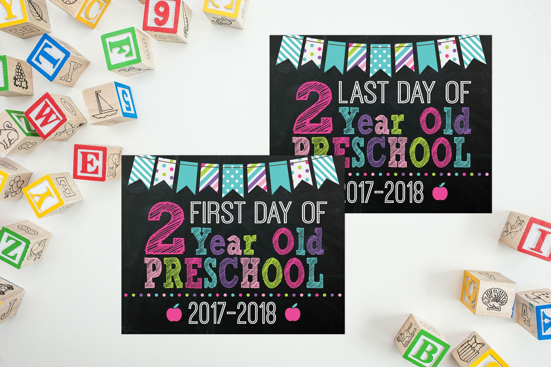 preschool 2 year old day of 2 year preschool sign back to school 180