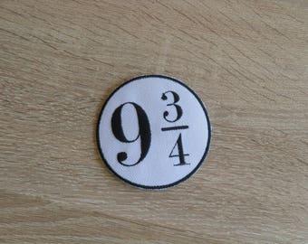 Platform 9 3/4  patch/  Iron On Patch / Harry Potter patch