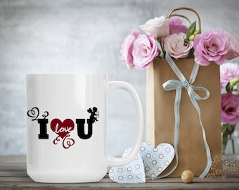 Romantic Gift for Wife Husband Spouse Fiance, I Love You Cup, Funny and Humorous Mug, Coffee Tea Lover Gift Idea, Valentine Coffee Gift